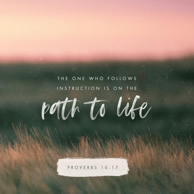 Proverbs 10:17 CSB