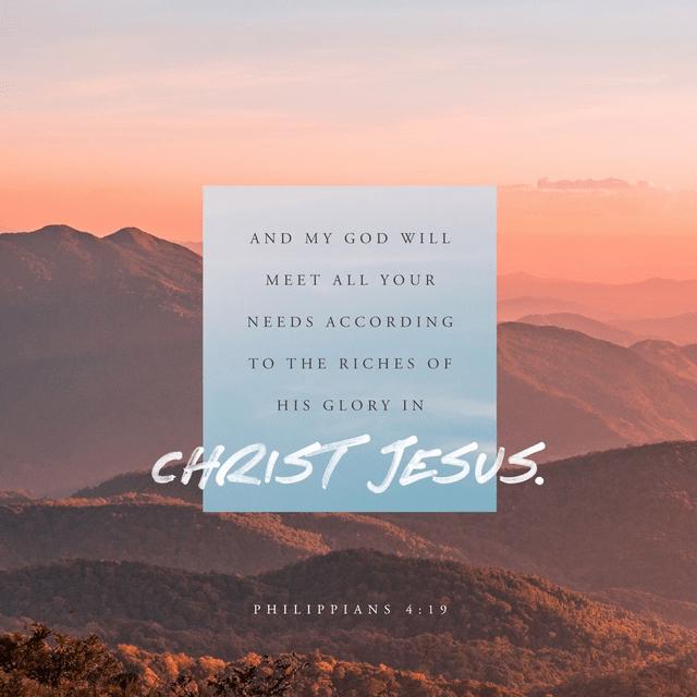 Philippians 4:19 NIV