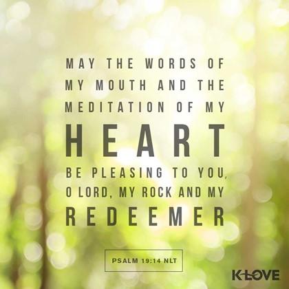 Psalm 19:14 NLT