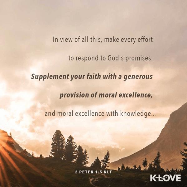 2 Peter 1:5 (NLT)