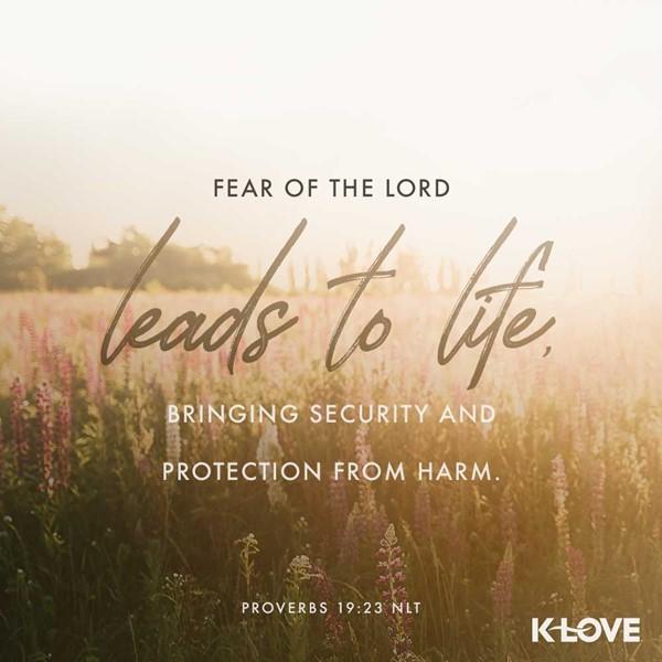 Proverbs 19:23 (NLT)