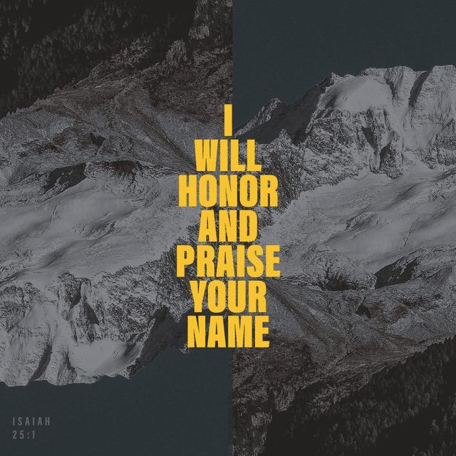 Isaiah 25:1 NLT