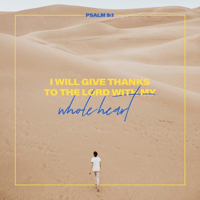 Psalms 9:1 ESV