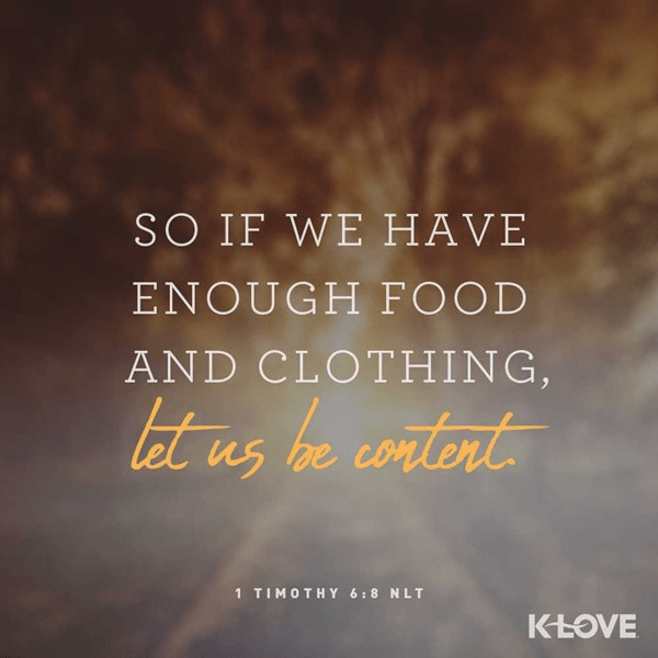 1 Timothy 6:8 (NLT)
