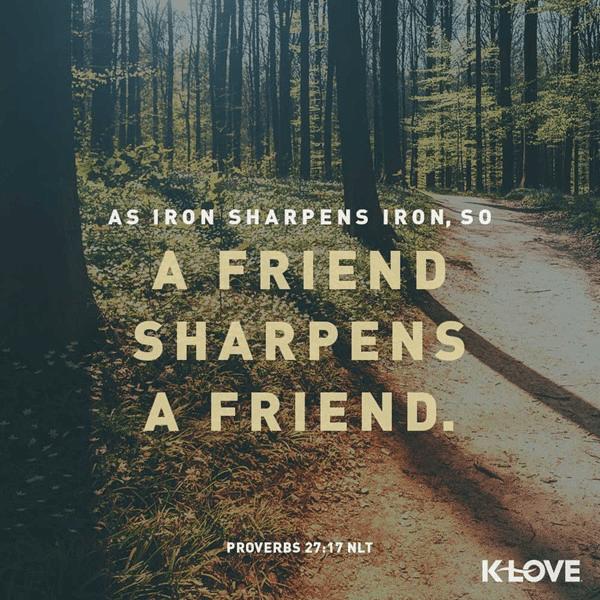 Proverbs 27:17 (NLT)