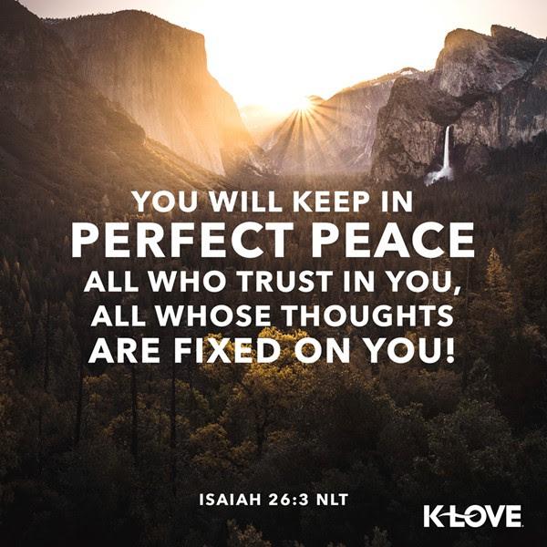 Isaiah 26:3 (NLT)