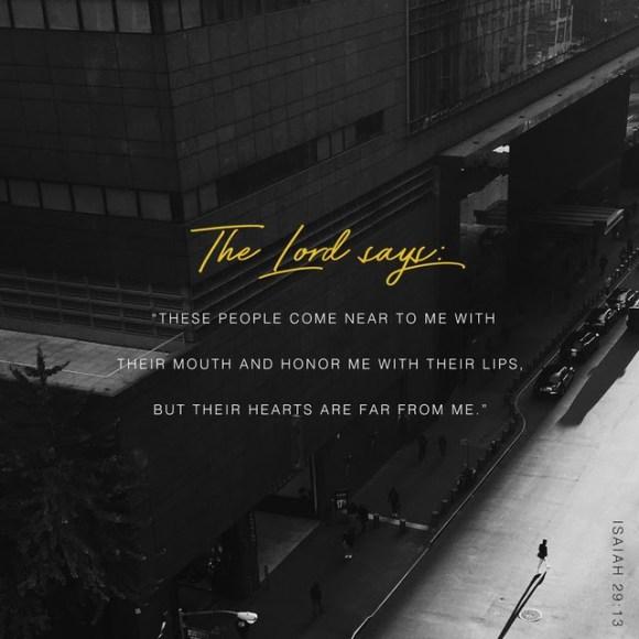 Isaiah 29:13 NIV