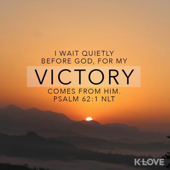 Psalm 62:1 (NLT)