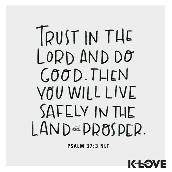 Psalm 37:3 (NLT)