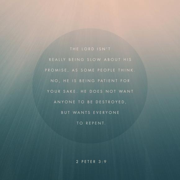 2 Peter 3:9 NLT
