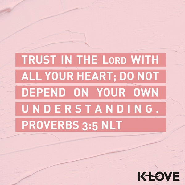 Proverbs 3:5 (NLT)