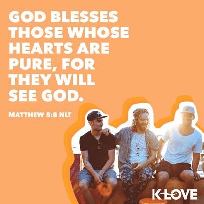 Matthew 5:8 (NLT)