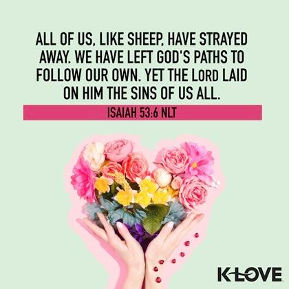 Isaiah 53:6 (NLT)