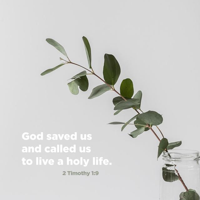 2 Timothy 1:9 NLT