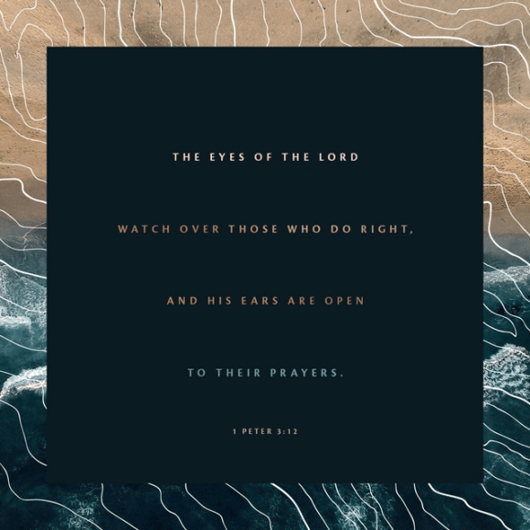 1 Peter 3:12 NLT