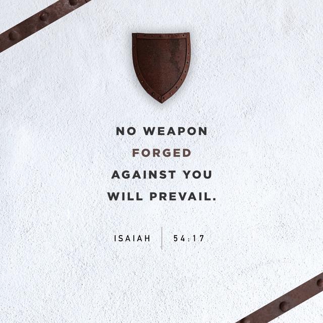 Isaiah 54:17 NIV