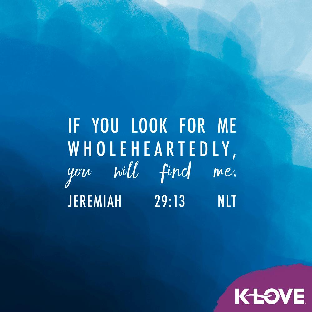 Jeremiah 29:13 (NLT)