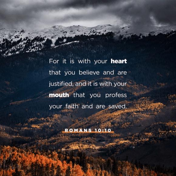 Romans 10:10 NIV