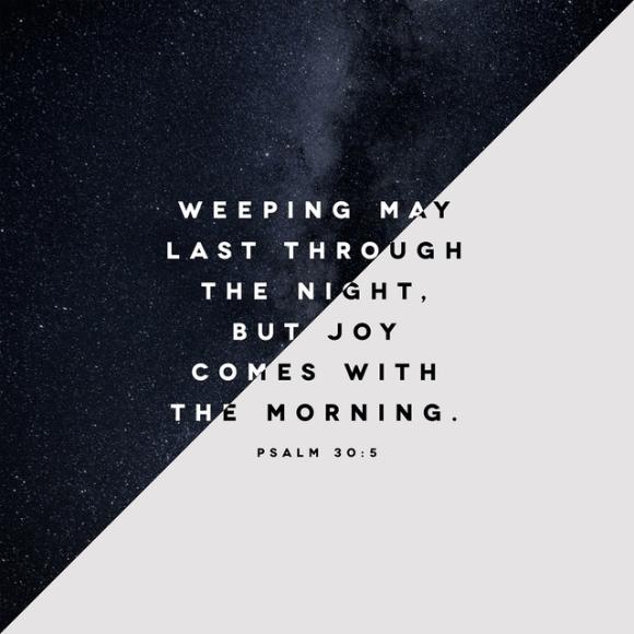 Psalms 30:5 NLT