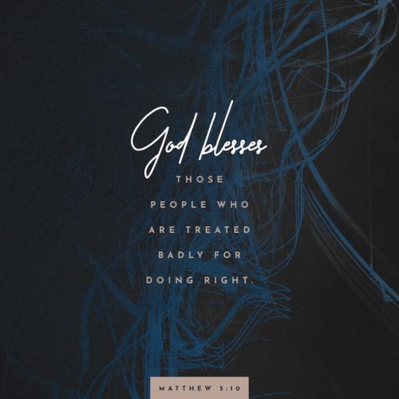 Matthew 5:10 CEV