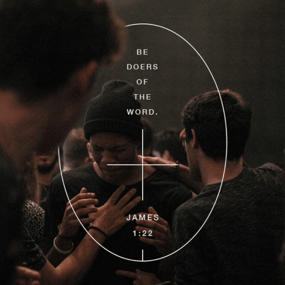 James 1:22-24 NLT