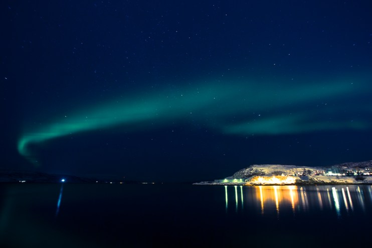 Northern Lights over Alta harbour