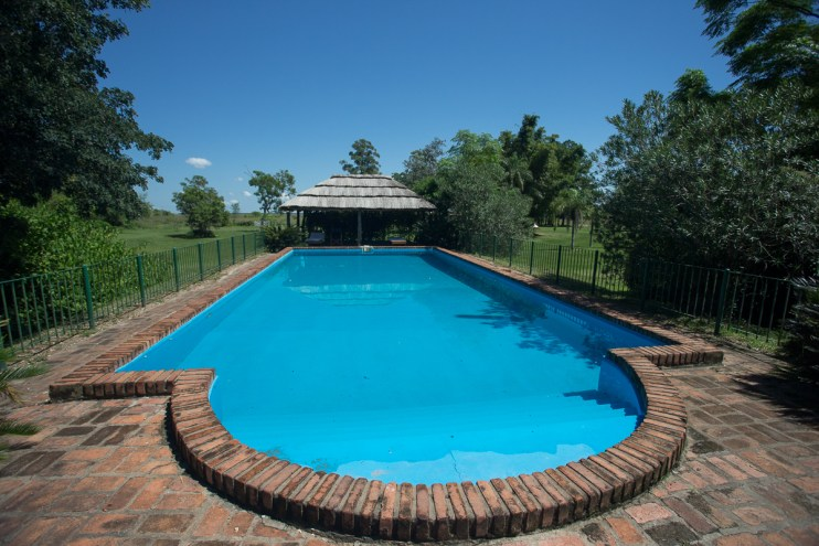 ...the pool...
