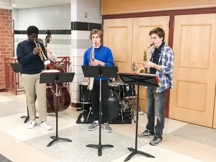 MHS musical group Cookie Kid entertained our guests before they attended classes.