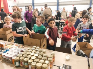 There were assembly lines in all of our schools as Thanksgiving boxes were prepared for delivery.