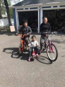 Walk and Bike to School Day was alive and well for a Tucker family on a beautiful Wednesday!
