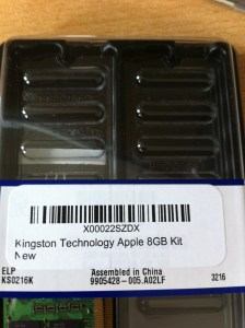 8 GB Memory kit compatible with the MacBook Pro Late 2008