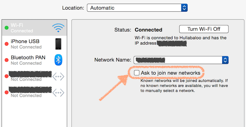 MBP OSX Yosemite don't ask for networks