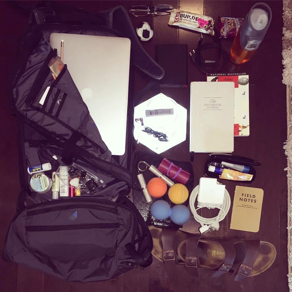 Brad Mills' Minaal Carry-on Backpack with Everyday Fitness Gear