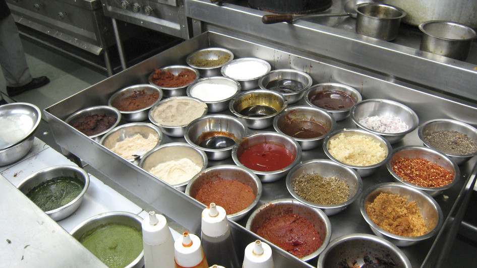 Mise en Place at Indian Restaurant