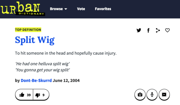 Split Wigs Definition – Urban Dictionary