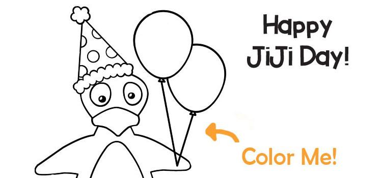 Celebrate Math on JiJi Day [Coloring Page Printable]