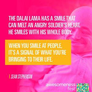Sean Stephenson quotes Dalai Lama at A-Fest