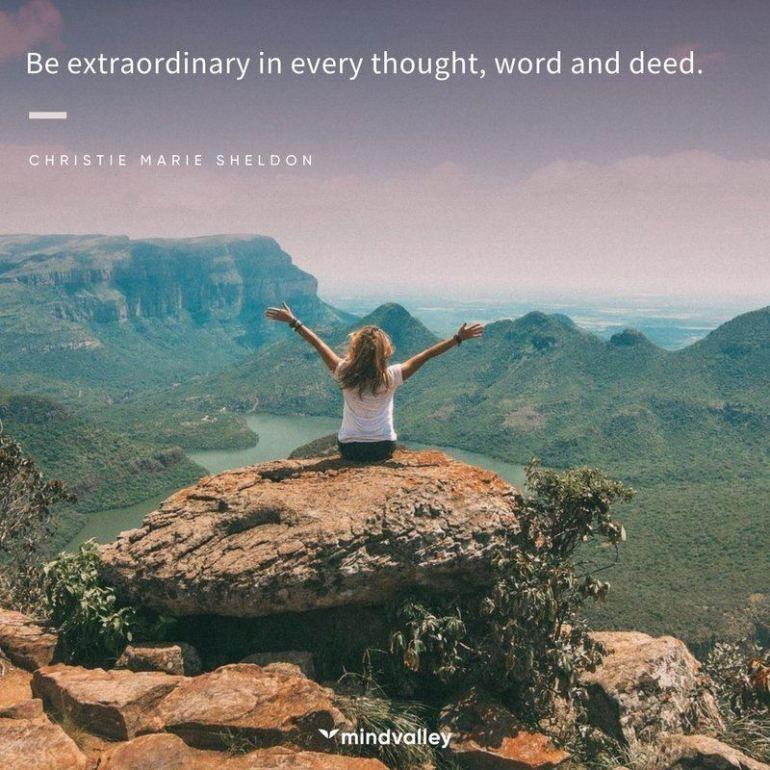 Christie Marie Sheldon extraordinary quote