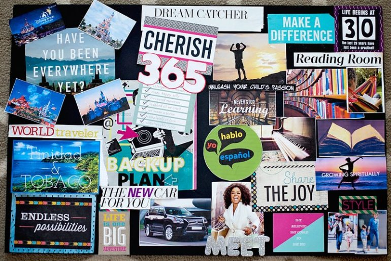 Vision board a powerful tool to manifest your life desires for Home design vision board