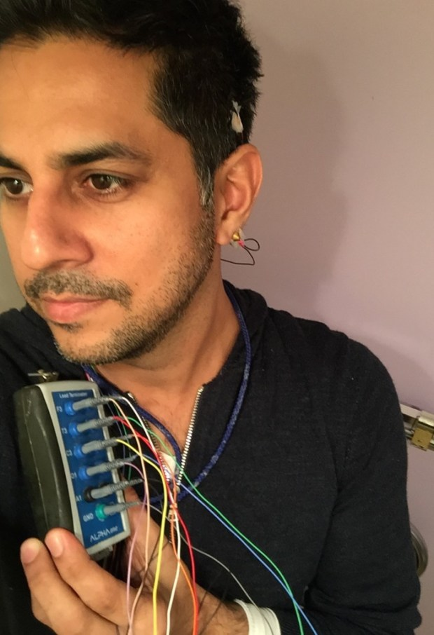 Vishen with EEG monitors