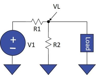 DAT Series Powered Through a Voltage Divider Network