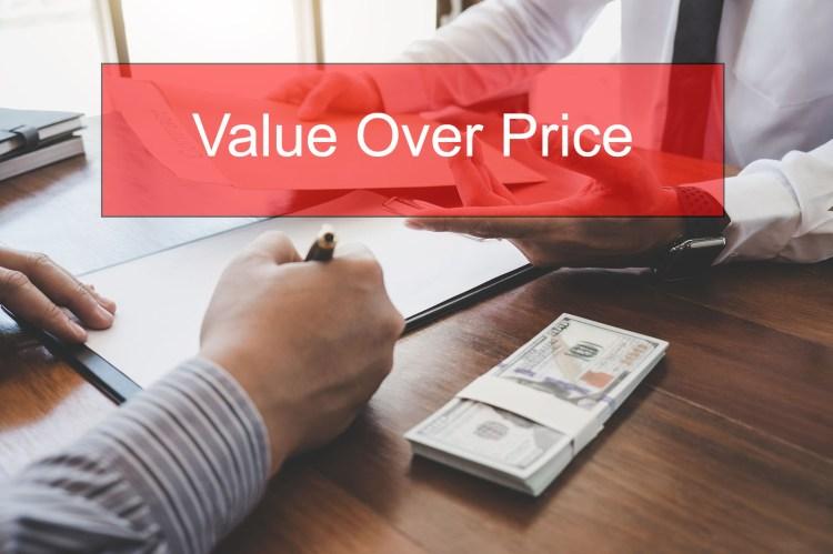 insurance value over price, value in insurance