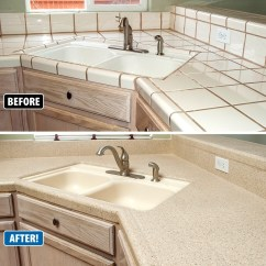 Refinishing Kitchen Countertops Cabinet Boxes Countertop Revitalizes Outdated Kitchens