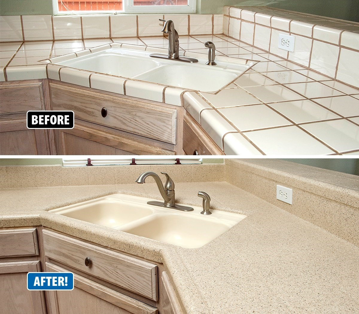 refinishing kitchen countertops tuscan curtains valances countertop revitalizes outdated kitchens