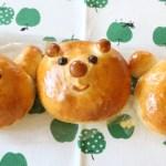 りんご風味に動物パン