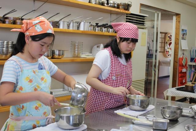 レモンシフォンケーキ お菓子教室5
