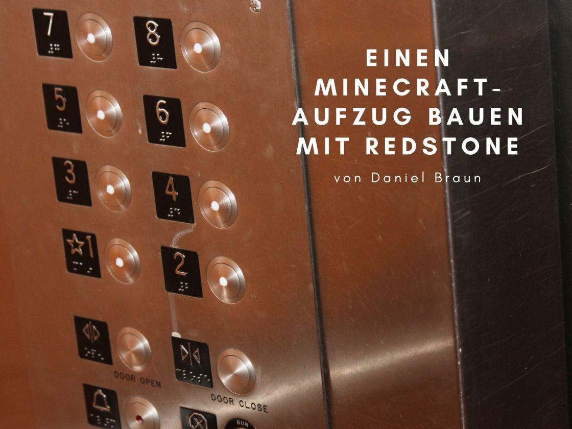 minecraft aufzug bauen