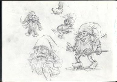Tidlige skitser fra min skitsebog - Early sketches from my Sketchbook