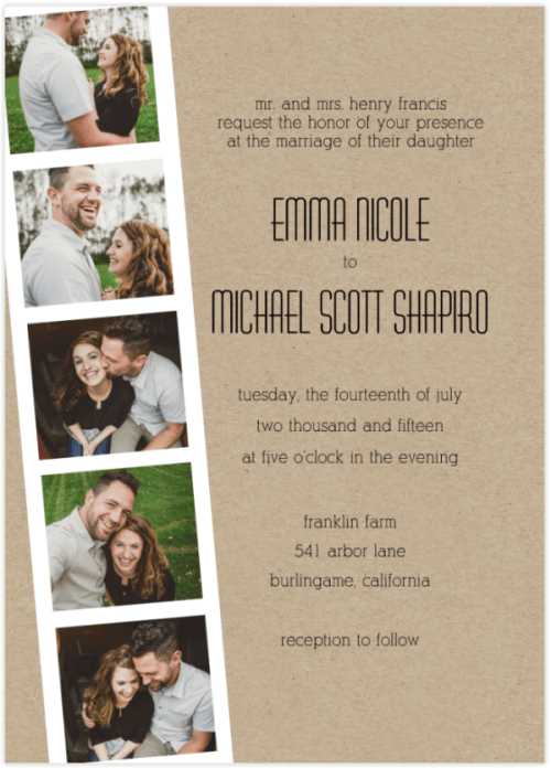 Great E Wedding Invitations 51 For Your Inspiration With