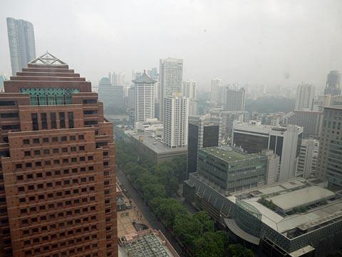 朝の9時前。ホテルからの眺め。
